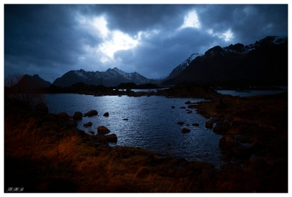 Angry skies, Lofoten Norway. Canon 5D Mark III   24mm 1.4 Art